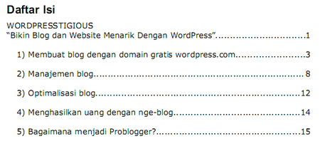 Daftar Isi Ebook