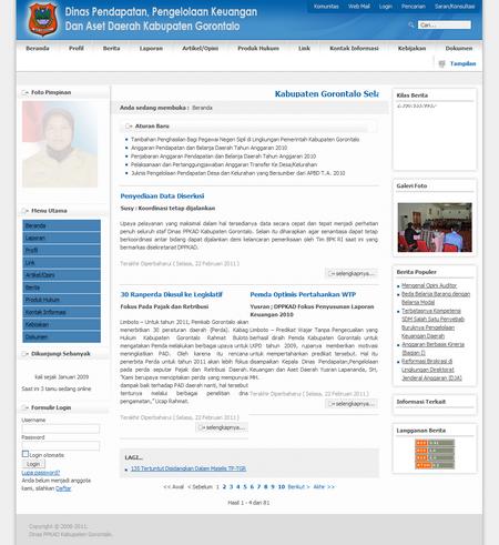 Dinas Pendapatan Pengelolaan Keuangan dan Aset Daerah Kabupaten Gorontalo - Beranda